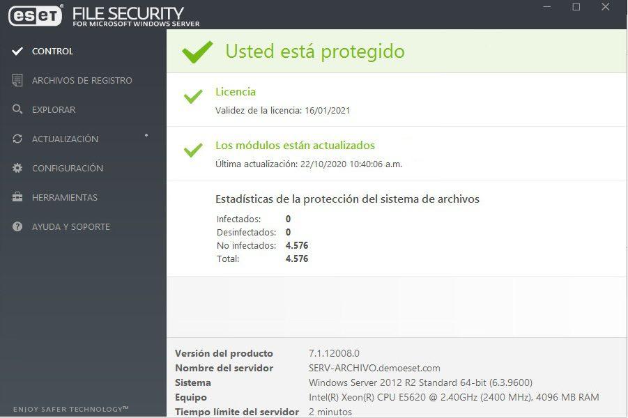 Descargar SOHO proteccion para servidores